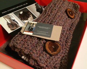 Scottish pure wool cowl, winter cowl, wool scarf, wool infinity scarf, knitwear, made in Scotland. Scottish gift.