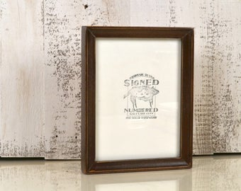 6x8 inch Solid Wood Picture Frame in Foxy Cove with Vintage Dark Wood Tone Finish - IN STOCK - Same Day Shipping - 6 x 8 Sale Frame
