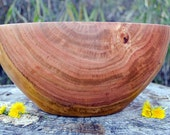 """Wood Bowl, X-Large Wood Bowl, 14"""" Cherry Wood Bowl, X-Large Cherry Wood Bowl, Salad Bowl, Bread Bowl, Centerpiece, hand turned, red,"""