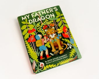 Vintage 1960s Childrens Chapter Book / My Father's Dragon by Ruth Stiles Gannett Newbery Honor Hc VGC / A Boy Rescues A Baby Dragon