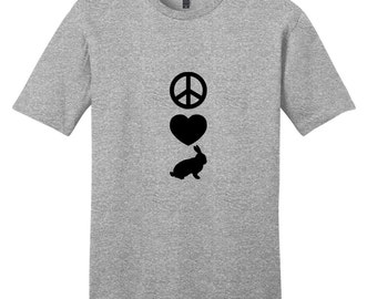 Peace Love Rabbits - Funny Farm Animal T-Shirt