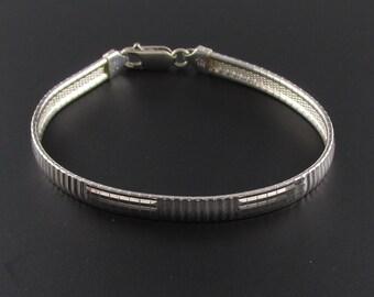 Sterling Silver Chain Bracelet, Silver Bracelet, Sterling Chain Bracelet, Omega Chain Bracelet, Italian Silver Chain