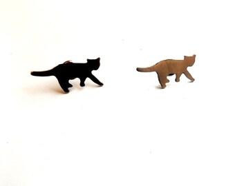 cat earrings//metal cat earrings//aluminum cat earrings//cat metal blanks//metal blanks//earrings//earring posts//metal//cats