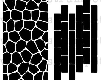 MiniMoley Stencil Set - Walls