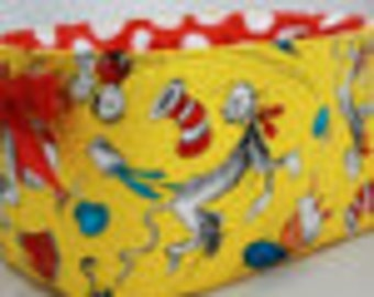 This listing is for Jennifer Easter Basket, Reversible yellow celebrate Seuss