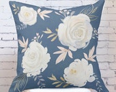 Floral Pillow Cover Vivienne Throw Pillow Floral Pillow