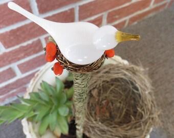 Garden decor, garden art, garden plant stake, bird garden ornament, yard art