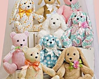 Easy Stuffed Animals Pattern,  2 Piece Stuffed Animals Pattern, Very Easy Sewing Pattern, Simplicity Sewing Pattern 8044 and 9524