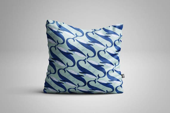 Blue Whales Cushion (Cover only)