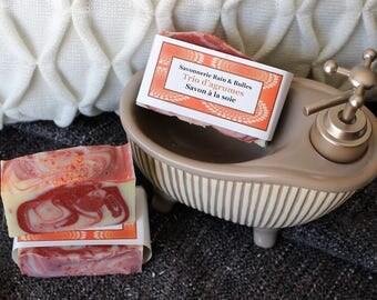 Savon à la soie Trio d'agrumes, orange, citron, pamplemousse