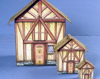 Tudor Style Dollhouse Kit For Your Dollhouse 1:24 Scale