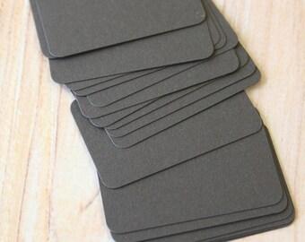 Coffee Crush dark brown 50pc handmade blank Business Cards