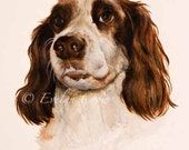2x portrait 12x16inch - DOG in watercolour Reserved for Lissa 50% initial payment