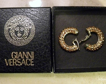 Sale & Free Shipping - GIANNI VERSACE* EARRINGS - Vintage Jewelry At It's Finest, Heavy Goldplated, No Fade Ttarnish Technology