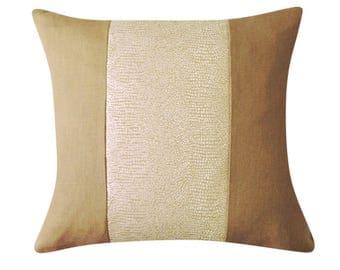 Luxe Linen Snakeskin Throw Pillow Cover, Taupe Color Linen Pillows, Linen Cushions, Color Block Pillows,  Modern Pillows, Summer Home Decor