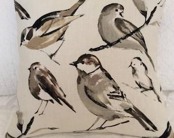 Designer decorative 20x20 Richloom bird design fabric, accent pillow covers, toss pillows, designer pillows, throw pillows, toss pillows
