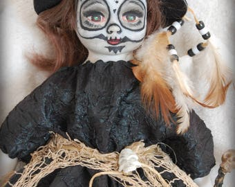 Take an extra 35% off  RePainted Porcelain Doll SHAULA GORGON the Witch Doctor ooak creepy cute Horror Enchantress collectible Bruja