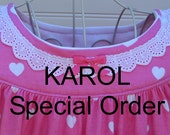 KAROL--Special Order, Size 14// Sleeveless 100% Cotton-Knit // ONE Pink & White Hearts (and) ONE with Kittens