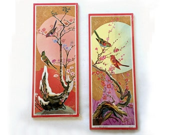 Framed Bird Prints, Vintage Bird Prints, Framed Bird Art, Vintage Bird Tryptics, Wild Bird Art, Kathy Seek Prints, Hearfelt Bird Wall Decor