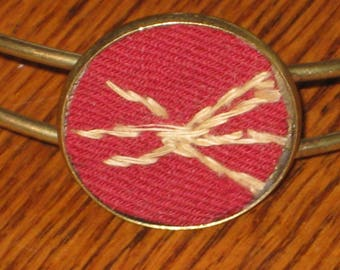 Primitive Red Quilt Bangle Cuff Bracelet Antique Quilt Jewelry Gift For Her Mothers Day Under 15 With Gift Box