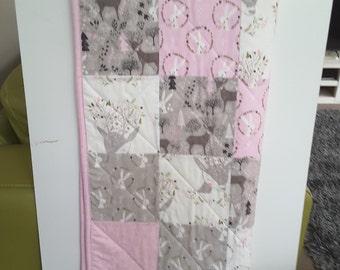 Cot quilt, cot blanket, baby blanket, baby girl nursery
