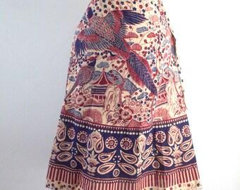 Pheasant Vintage 60s 70s Hippie Wrap Skirt