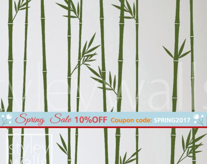 Bamboo Wall Decal, Bamboo Stalks Wall Decal, Bamboos Wall Sticker for Living Room, Bamboos Wall Decor, Bamboo Tree Wall Decal Wall Decor