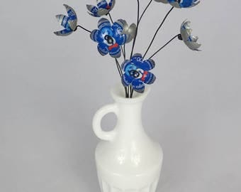 Blue EST Cola Stars Bouquet of Tin Forever Blooming Flowers