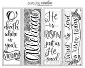 Print and Color your own Easter Bookmarks