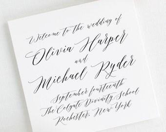 Olivia Wedding Programs - Deposit