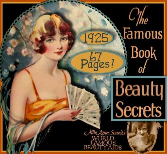 The FAMOUS Book of Beauty Secrets Art Deco Flapper 1920s