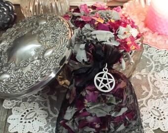 Sacred White Sage, Rose & Lavender Loose Incense