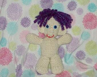 Purple Hair Troll Doll Crochet Troll Amigurumi Troll Doll Stuffed Toy