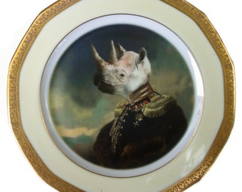 Lord Voluntus de Gaulle Portrait Plate 6""