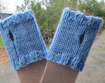 Boys Blue Fingerless Gloves by SuzannesStitches, Toddler Blue Fingerless Glove, Toddler Blue Fisties, Boys Fingerless Gloves, Blue Gloves