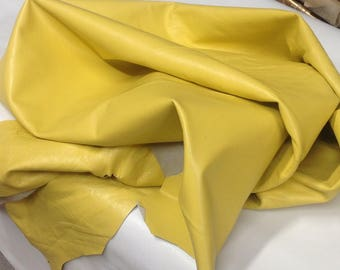 RD25. Yellow Leather Lambskins