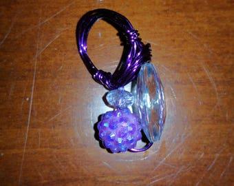 sparkly purple charm