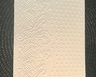 Decorative Scenes Embossing Folders - Floral Check - 5 x 7 - 4 Pieces