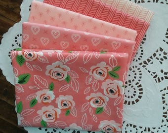 Sugar Pie Fat Quarter Bundle featuring Peony Pinks - Handcut - Custom Bundle