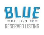 Reserved Listing for Jodi Weier