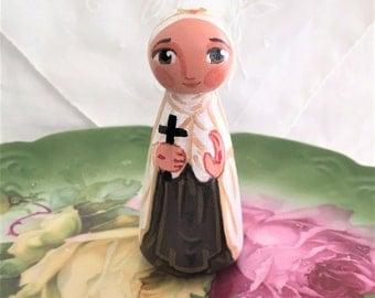 Saint Mariam Baouardy  Mary of Jesus Crucified Catholic Peg Doll Keepsake Collectible