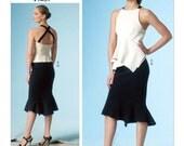 Pick Your Size - Vogue Pattern V1451 by DONNA KARAN - Misses' Draped, Cross-Back Top & Fitted Trumpet Skirt - Vogue American Designer
