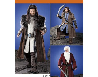 Sz XS thru XL  - Simplicity Costume Pattern 1552 - Men's Cosplay Costume Pattern - Medieval Tunic, Cloak, and Accessories