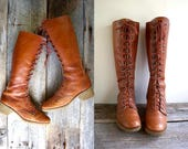 1970s Lace Up Boots Sz 8.5 wom  //  Hippie Boots Sz 39   //  THE STEVIE