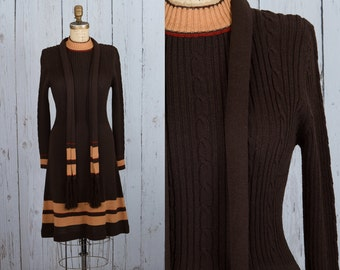 vintage 1960s knit sweater dress