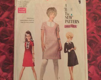 60's Dress With Detachable Collar