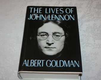 """Vintage Hard Cover Book with Dust Jacket """" The Lives of John Lennon """" by Albert Goldman 1988"""