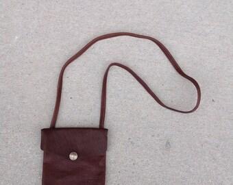 Brown Leather Purse / Buffalo Leather Purse /Made in USA