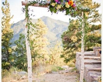 On Sale Three Piece Wedding Arch - Chuppah /Birch Poles