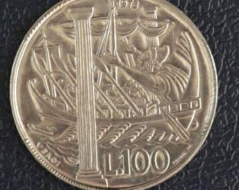 San Marino  100 Lire Coin 1973